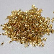 """pccb28001/17020-1"""" 2.2 x 1.4 mm, pailga forma, auksinė spalva, viduriukas su folija, apie 50 g."""