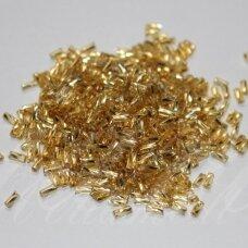 """PCCB28001/17020-2"""" 4.5 x 2 mm, pailga forma, auksinė spalva, viduriukas su folija, apie 50 g."""