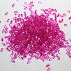 """pccb28001/18225-1"""" 2.2 x 1.4 mm, suktas, pailga forma, kvadratinė skylė, rožinė spalva, viduriukas su folija, apie 50 g."""