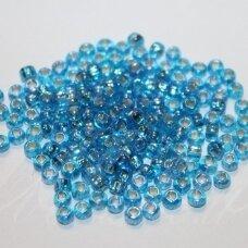 pccb29001/67039-06/0 3.7 - 4.3 mm, apvali forma, skaidri, mėlyna spalva, kvadratinė skylė, viduriukas su folija, apie 50 g.
