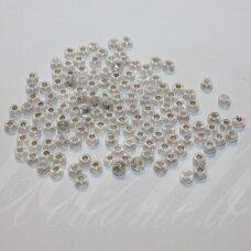 pccb29001/78109-06 3.7 - 4.3 mm, apvali forma, skaidrus, viduriukas su folija, ab danga, kvadratinė skylė, apie 50 g.