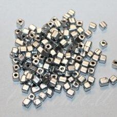 PCCB30001/01700-3.4/3.4 3.4 x 3.4 mm, kūbo forma, sidabro spalva, apie 50 g.