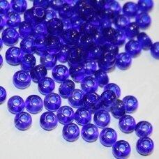 PCCB30100-07/0 3.2 - 3.7 mm, apvali forma, tamsi, mėlyna spalva, apie 50 g.