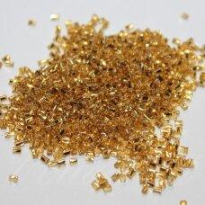 pccb31001/87069-10/0 2.4 x 2.4 mm, pailga forma, geltona spalva, viduriukas su folija, apie 50 g.