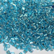 pccb31001/67010-09/0 2.4 - 2.4 mm, pailga forma, skaidrus, mėlyna spalva, viduriukas su folija, apie 50 g.