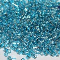 pccb31001/67010-10/0 2.2 - 2.4 mm, pailga forma, skaidrus, mėlyna spalva, viduriukas su folija, apie 50 g.