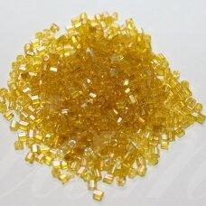 pccb31001/81010-08/0 2.5 x 2.5 mm, pailga forma, geltona spalva, skaidrus, apie 50 g.
