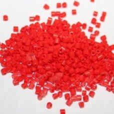 pccb31001/93170-10/0 2.2 x 2 mm, pailga forma, raudona spalva, apie 50 g.