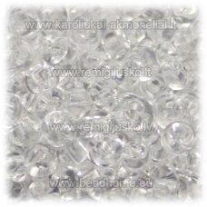 pccb311/11001/00050-05/0 5 x 3.5 mm, lašo forma, skaidrus, apie 50 g.