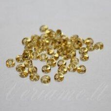 pccb311/11001/10020-02/0 apie 6 mm, lašo forma, skaidrus, geltona spalva, apie 50 g.