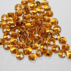 pccb311/11001/17050-02/0 6 mm, lašo forma, skaidrus, geltona spalva, viduriukas su folija, apie 50 g.