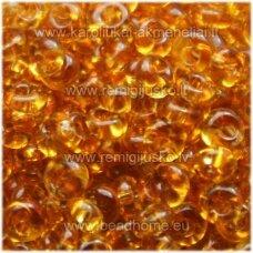 pccb311/11001/10050-08/0 3 x 2 mm, lašo forma, skaidrus, gintaro spalva, apie 50 g.