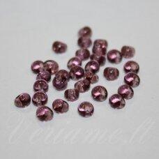 pccb311/11001/20010-08/0 3 x 2 mm, lašo forma, skaidrus, violetinė spalva, apie 50 g.