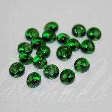 pccb311/11001/50060-08/0 3 x 2 mm, lašo forma, skaidrus, žalia spalva, apie 50 g.