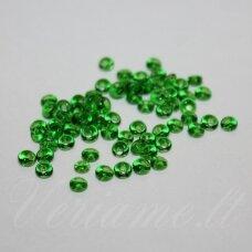 pccb311/11001/50120-08/0 3 x 2 mm, lašo forma, skaidrus, žalia spalva, apie 50 g.