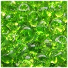 pccb311/11001/50220-05/0 5 x 3.5 mm, lašo forma, skaidrus, žalia spalva, apie 50 g.
