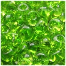 pccb311/11001/50220-08/0 3 x 2 mm, lašo forma, skaidrus, žalia spalva, apie 50 g.