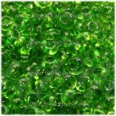 pccb311/11001/50430-08/0 3 x 2 mm, lašo forma, skaidrus, žalia spalva, apie 50 g.