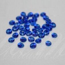 pccb311/11001/60300-08/0 3 x 2 mm, lašo forma, tamsi, mėlyna spalva, apie 50 g.