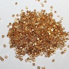 """pccb32001/18304-0.5""""/0 1.6 x 1.6 mm, pailga forma, auksinė spalva, apie 50 g."""