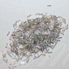 pccb321/11001/78102-4/1 4 x 1 mm, pailga forma, skaidrus, viduriukas su folija, apie 50 g.