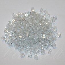 PCCB321/30001/38602-3.4/3.4 3.4 x 3.4 mm, kubo forma, skaidrus, apie 50 g.
