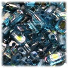 pccb321/61001/6010t-05/3.5 mm 5 x 3.5 x 2.5 mm, pailga forma, skaidrus, žydra spalva, marga, apie 50 g.