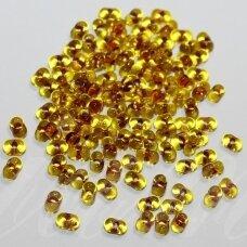 PCCB321/90001/02025-2/4 2 x 4 mm, farfalle forma, skaidrus, geltona spalva, viduriukas,  violetinė - oranžinė spalva, apie 50 g.