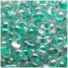 pccb321/90001/38658-3.2/6.5 3.2 x 6.5 mm, farfalle shape, transparent, middle green color, about 50 g.