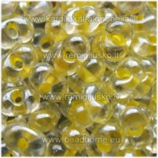 pccb321/90001/38686-3.2/6.5 3.2 x 6.5 mm, farfalle forma, skaidrus, geltona spalva, apie 50 g.