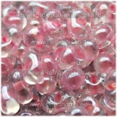 pccb321/90001/38694-3.2/6.5 3.2 x 6.5 mm, farfalle forma, skaidrus, viduriukas rožinė spalva, apie 50 g.