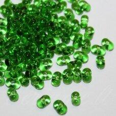 pccb321/90001/50120-3.2/6.5 3.2 x 6.5 mm, farfalle forma, skaidrus, žalia spalva, apie 50 g.