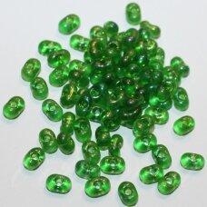 pccb321/90001/51120-3.2/6.5 3.2 x 6.5 mm, farfalle forma, skaidrus, žalia spalva, ab danga, apie 50 g.