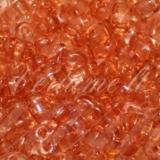 pccb321/96001/01185-2.5 x 3 x 5 mm, twin shape, transparent, orange color, about 48 g.