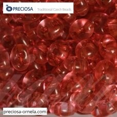 PCCB321/96001/01193-2.5 x 3 x 5 mm, twin forma, skaidrus, blizgus, viduriukas raudona spalva, apie 20 g.
