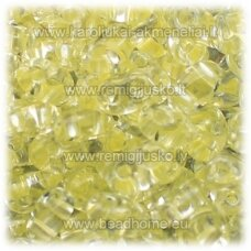 pccb321/96001/38286-2.5 x 3 x 5 mm, twin shape, transparent, middle yellow color, about 50 g.