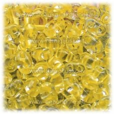 pccb321/96001/38986-2.5 x 3 x 5 mm, twin shape, transparent, middle yellow color, about 50 g.