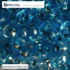 pccb321/96001/78134-2.5 x 3 x 5 mm, twin forma, skaidrus, blizgi danga, viduriukas mėlyna spalva, apie 20 g.