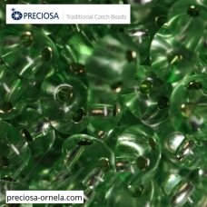 pccb321/96001/78161-2.5 x 3 x 5 mm, twin shape, transparent, shiny cover, middle green color, about 20 g.