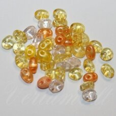 pccb321/96001/mix37-2.5 x 3 x 5 mm, twin forma, geltona spalva, mix, apieapie 20 g.