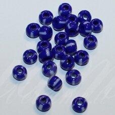 PCCB33030-07/0 3.2 - 3.7 mm, apvali forma, mėlyna spalva, margas, apie 50 g.