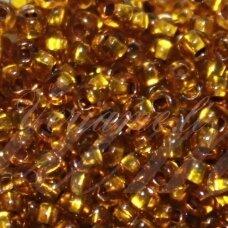 pccb331/29001/00025-05/0 4.3 - 4.8 mm, apvali forma, skaidrus, gintaro spalva, kvadratinė skylė, viduriukas su folija, apie 50 g.