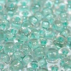 pccb29001/38153-01/0 6.3 - 6.8 mm, apvali forma, skaidrus, kvadratinė skylė, viduriukas elektrinės spalvos, apie 50 g.