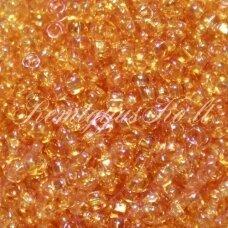 PCCB331/29001/00110-10/0 2.2 - 2.4 mm, apvali forma, skaidrus, oranžinė spalva, kvadratinė skylė, apie 50 g.