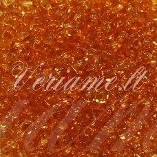 pccb331/29001/10050-11/0 2.0 - 2.2 mm, skaidrus, ruda spalva, kvadratinė skylė, apie 50 g.