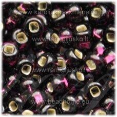 pccb331/29001/27080-06/0 3.7 - 4.3 mm, apvali forma, violetinė spalva, kvadratinė skylė, viduriukas su folija, apie 50 g.