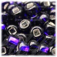 pccb29001/37110-06/0 3.7 - 4.3 mm, apvali forma, violetinė spalva, kvadratinė skylė, viduriukas su folija, apie 50 g.