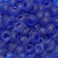 pccb29001/39001/30080-05/0 4.3 - 4.8 mm, apvali forma, matinė, mėlyna spalva, kvadratinė skylė, apie 50 g.