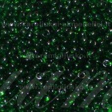 pccb331/29001/50060-11/0 2.0 - 2.2 mm, apvali forma, žalia spalva, kvadratinė skylė, apie 50 g.