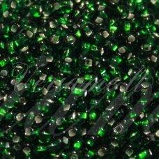 PCCB331/29001/57060-08/0 2.8 - 3.2 mm, apvali forma, skaidrus, žalia spalva, kvadratinė skylė, viduriukas su folija, apie 50 g.